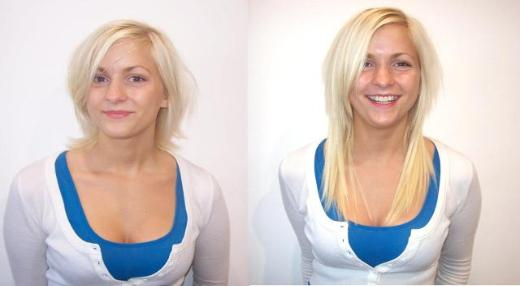 Before and after hair extensions short to long ictendavraniyor hair fashion blog pmusecretfo Choice Image